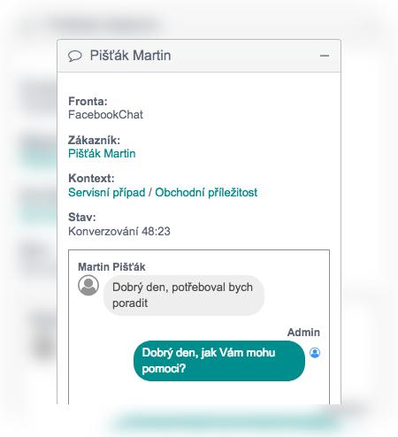 Chat zákaznické podpory